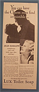 Vintage Ad: 1933 Lux Toilet Soap With Jean Harlow