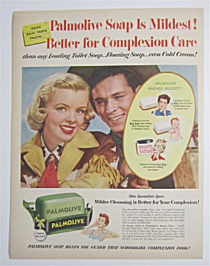 1954 Palmolive Soap with a Lovely Cowgirl & Cowboy (Image1)