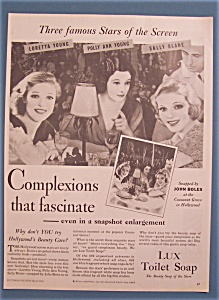Vintage Ad: 1933 Lux Soap W/ Young, Blane & Young