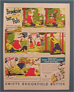 Vintage Ad:1934 Swift Brookfield Butter/Brooksie & Pals (Image1)