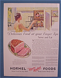 1931 Hormel Ham With Woman Reaching For Can Of Ham
