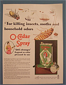 1931 O-cedar Spray With A Variety Of Different Bugs
