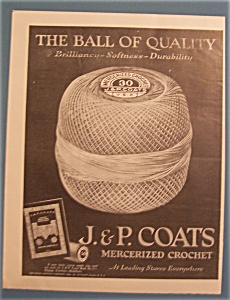 1922  J & P Coats Mercerized Crochet (Image1)