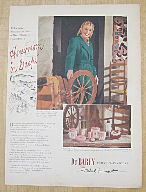 1945 Du Barry Beauty Preparations with Lovely Woman  (Image1)