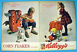 1964 Kellogg's Corn Flakes Cereal with Boy & Girl (Image1)