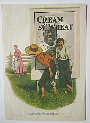 1918 Cream Of Wheat Cereal W/boys Hiding By Sign