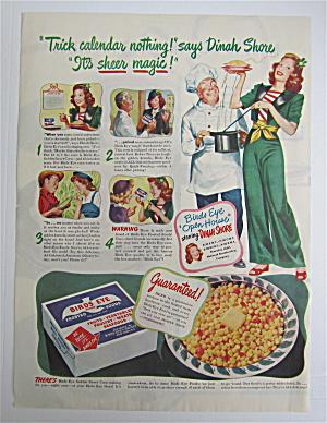 1945 Birds Eye Golden Sweet Corn with Dinah Shore  (Image1)