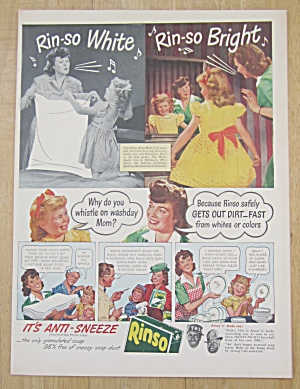 1945 Rinso Soap with It's Anti Sneeze w/Mom & Daughter (Image1)