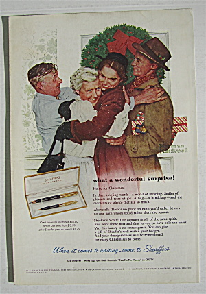 1955 Sheaffer Pens For Christmas By Norman Rockwell