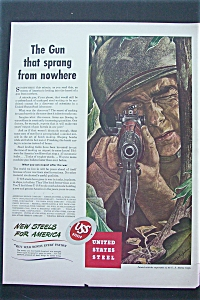 1943 United States Steel with Soldier Aiming a Gun (Image1)