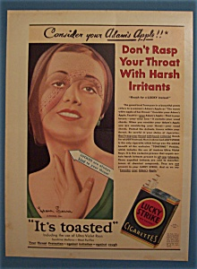 1931 Lucky Strike Cigarettes