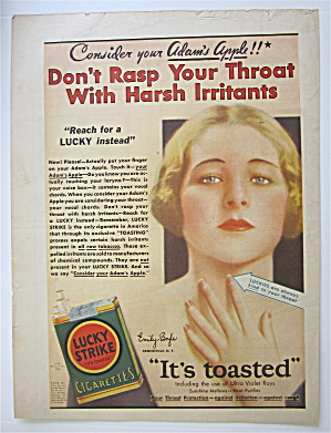 1931 Lucky Strike Cigarettes With Your Adam's Apple
