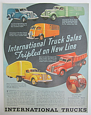 1937 International Trucks With Heavy Duty Trucks