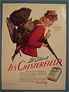 1941 Chesterfield Cigarettes With Marjorie Woodworth