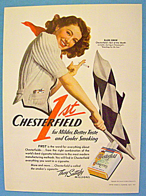 1941 Chesterfield Cigarettes With Ellen Drew