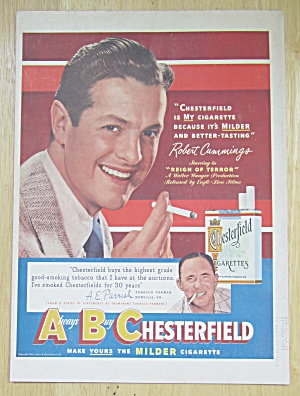 1949 Chesterfield Cigarettes with Robert Cummings  (Image1)