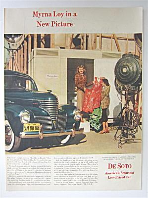 1939 De Soto Automobile with MGM Star Myrna Loy (Image1)