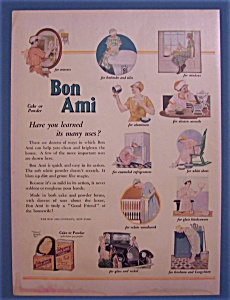 1924 Bon Ami With The Many Uses For Cake Or Powder