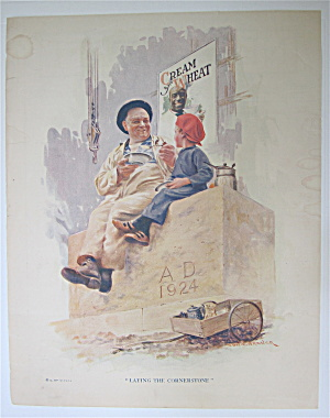 1924 Cream Of Wheat Cereal With Man & Boy Talking