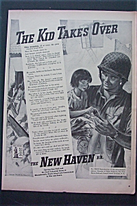 1943 The New Haven Railroad with Soldier Holding Girl  (Image1)