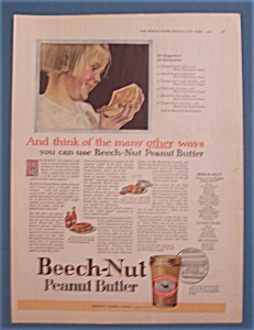 1923 Beech-nut Peanut Butter With Six Suggestions