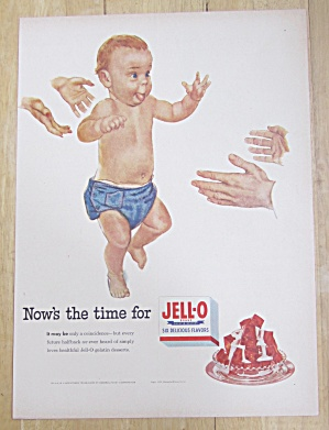 1953 Jell-O Gelatin Dessert with Baby Trying To Walk  (Image1)