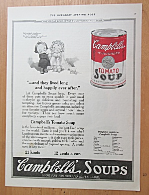1922 Campbell's Tomato Soup With Bride And Groom