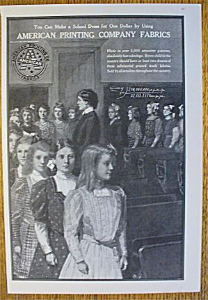 1907 American Printing Company Fabrics w/Children (Image1)