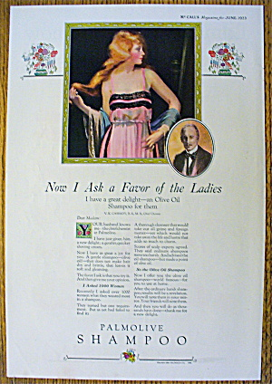1923 Palmolive Shampoo with Lovely Woman with Long Hair (Image1)