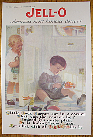 1923 Jell-o With Little Jack Horner Sat In A Corner