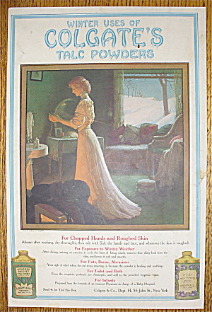 1907 Colgate's Talc Powder w/Woman Rubbing Lotion (Image1)