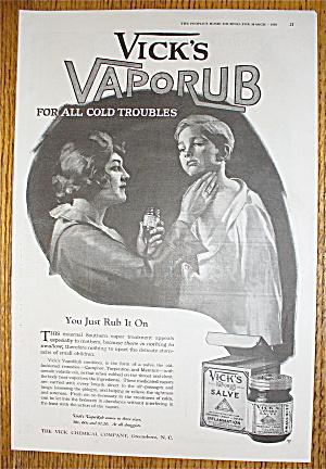 1920 Vicks Vaporub with Woman Rubbing Child's Neck (Image1)