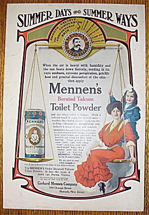1907 Mennen's Borated Talcum Toilet Powder w/Woman (Image1)