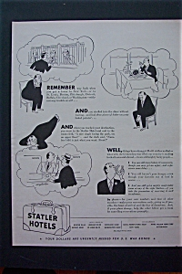 1943 Statler Hotels w/ a Man in 3 Different Situations (Image1)