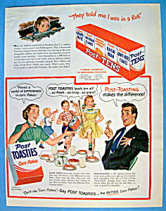 Vintage Ad: 1949 Post Toasties Corn Flakes (Image1)
