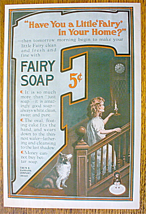 1914 Fairy Soap With Woman Walking Upstairs
