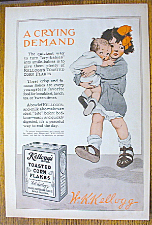 1914 Kellogg's Toasted Corn Flakes With Baby Crying