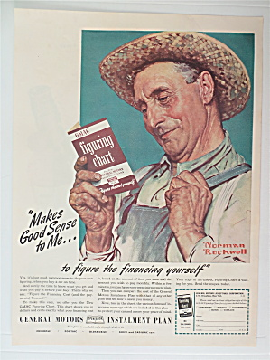 1941 General Motors Installment Plan By Norman Rockwell