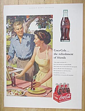 1953 Coca Cola (Coke) with Woman Setting Picnic Table (Image1)