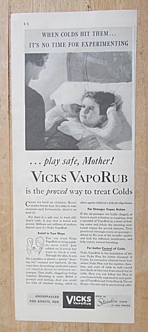 1933 Vicks VapoRub with Mom Tucking in Little Boy (Image1)