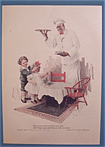 1917 Cream Of Wheat Cereal W/boy Covering Girl's Eyes