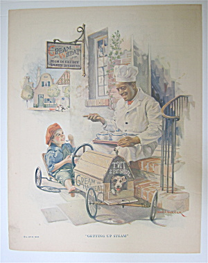 1924 Cream Of Wheat Cereal With Child In Go Cart
