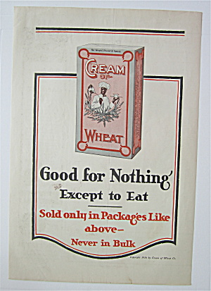1916 Cream Of Wheat Cereal With Box Of Cream Of Wheat
