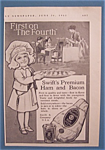 Vintage Ad: 1913 Swift's Premium Ham & Bacon