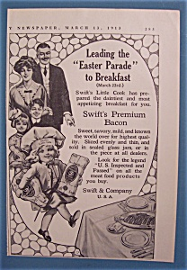 Vintage Ad: 1913 Swift Premium Bacon