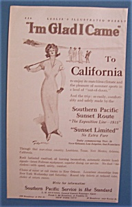 Vintage Ad: 1913 Southern Pacific Service (Image1)