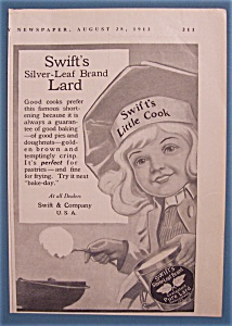 1913 Swift's Silver-leaf Brand Lard