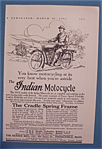 Vintage Ad: 1913 Indian Motorcycle (Image1)