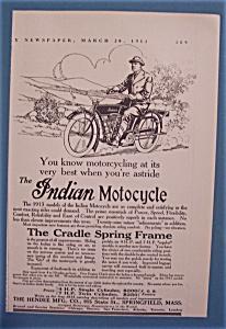 Vintage Ad: 1913 Indian Motorcycle (Image1)