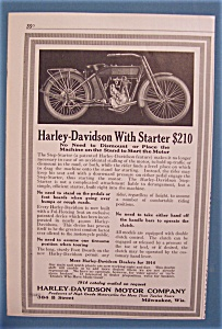 1914 Harley-Davidson Motorcycle with Starter (Image1)